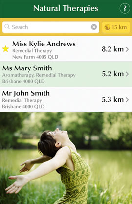 Natural Therapies App Patient Information